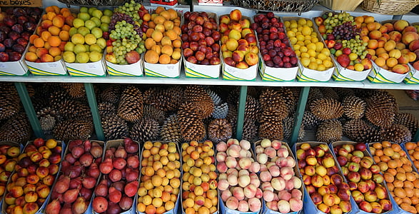 variety of fruits in stall