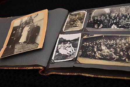 photo album, old, images, photos, memories, album