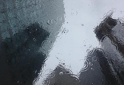 rain drops during daytime