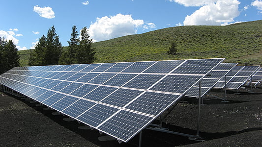 black solar panels at daytime