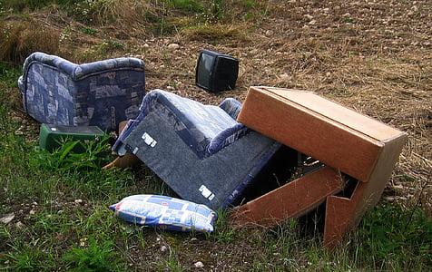 photo of blue suede sofa