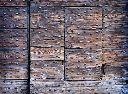 shallow focus photography of brown wooden hidden door