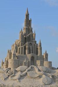 sand castle under clear blue sky