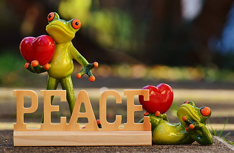 Peace standee table decor