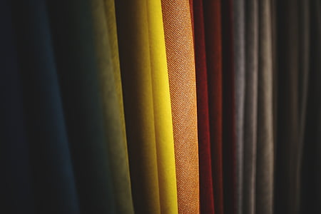 fabric, color, colorful, orange, yellow, red