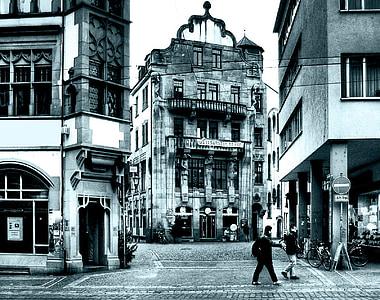 grayscale photography of landmark