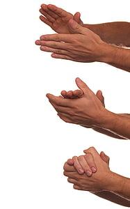 people's hands