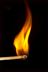 match stick with flame
