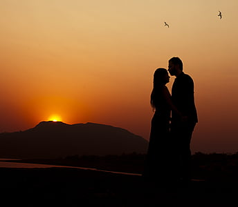 couple during sunset