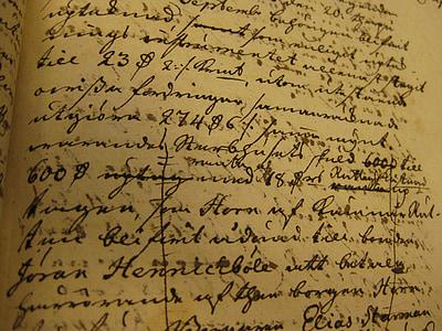 opened handwritten book