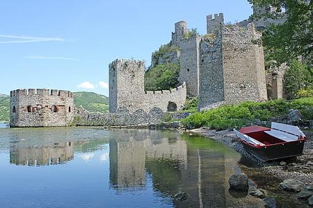 đerdap, serbia, castle, river, old, fortress