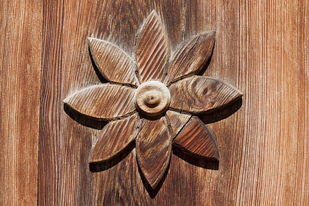 brown wooden floral wall decor
